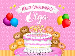 Tarjetas de  Olga