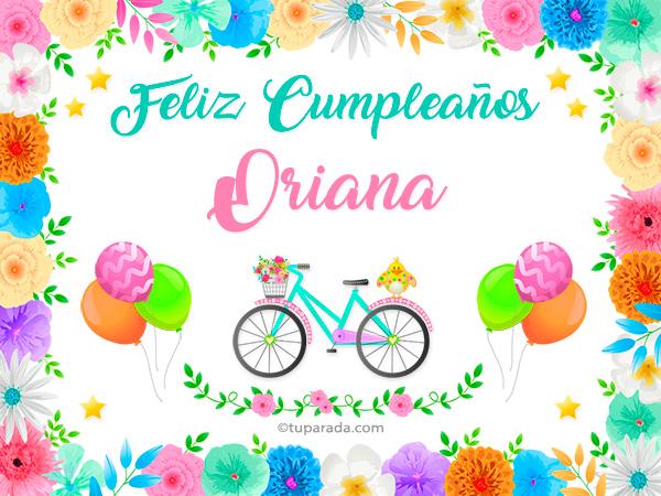 Tarjeta - Nombre Oriana