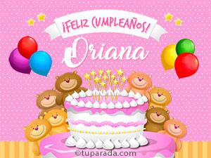 Tarjetas de Oriana