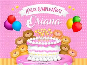 Tarjeta de Oriana
