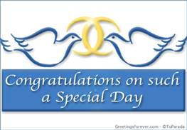 Congratulations on such special day