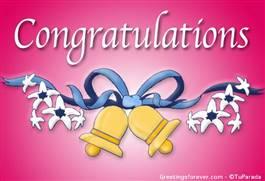Congratulations ecard