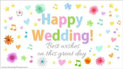 Happy wedding ecard.