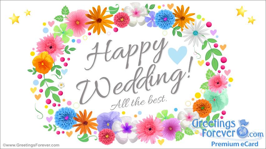 Ecard - Wedding ecard with flowers