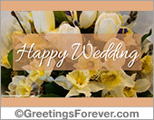 Wedding greetings