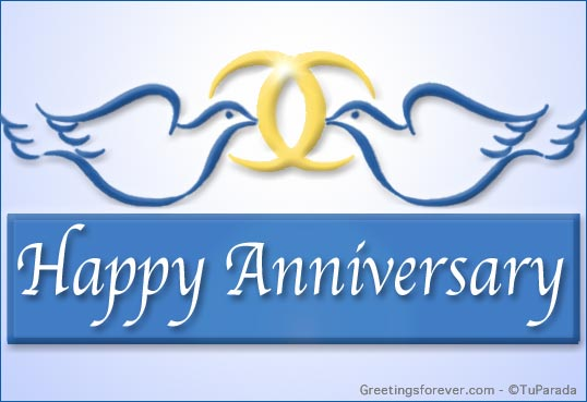 Ecard - Happy Anniversary with rings