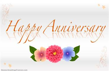 Anniversary ecard with flowers