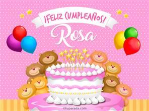 Tarjetas, postales: Rosa