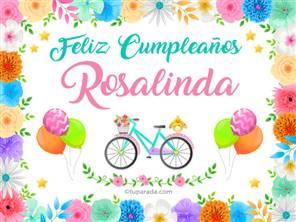 Tarjetas, postales: Rosalinda