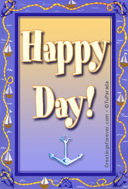 Ecard - Happy day with little ships