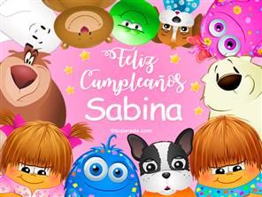 Feliz cumpleaños Sabina