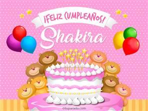 Tarjetas, postales: Shakira