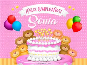 Tarjetas, postales: Sonia
