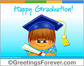 Graduation ecard for boys