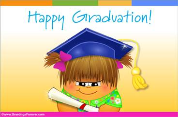 Graduation ecard for girls