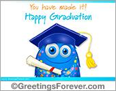 Happy Graduation in blue