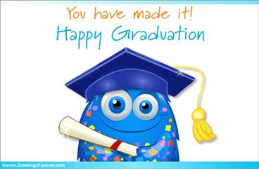 Happy Graduation in blue
