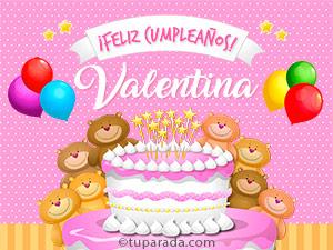 Tarjetas de Valentina