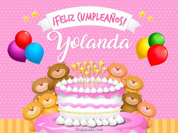 Cumpleanos De Yolanda Yolanda Tarjetas