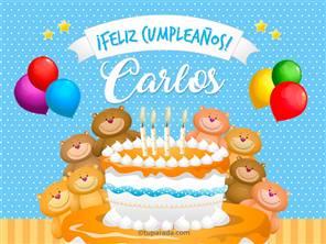 Tarjetas, postales: Carlos