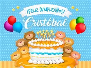 Tarjetas, postales: Cristóbal