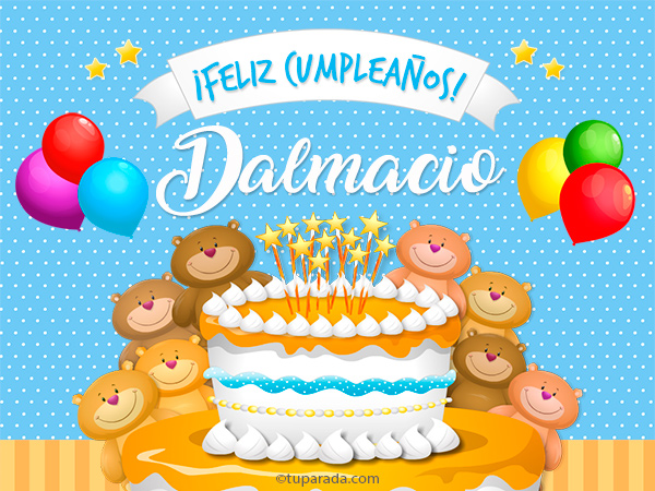 Tarjeta - Cumpleaños de Dalmacio