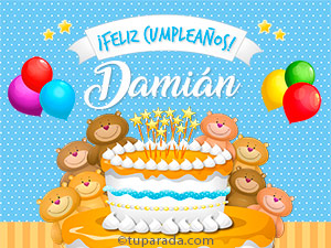 Tarjetas de Damián