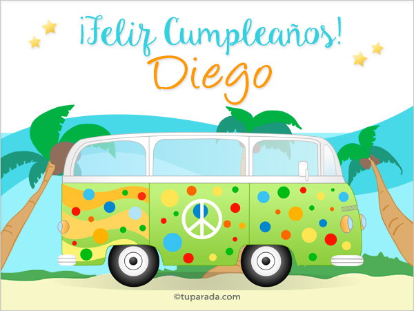 Tarjeta - Nombre Diego