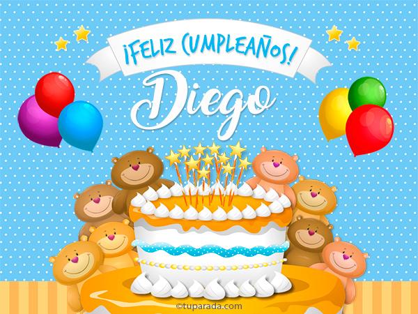 Tarjeta - Cumpleaños de Diego