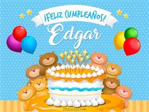 Tarjetas, postales: Edgar