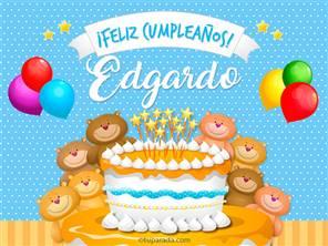 Tarjetas, postales: Edgardo