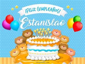 Tarjetas, postales: Estanislao