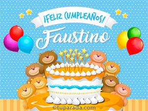 Tarjetas de  Faustino