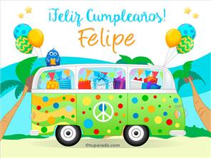 Tarjetas, postales: Felipe