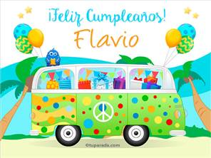 Tarjetas, postales: Flavio