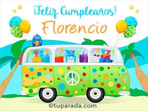 Tarjetas de Florencio