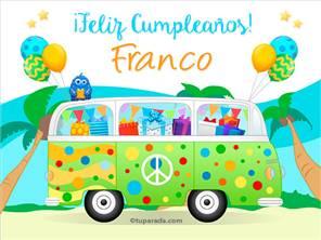 Tarjetas, postales: Franco