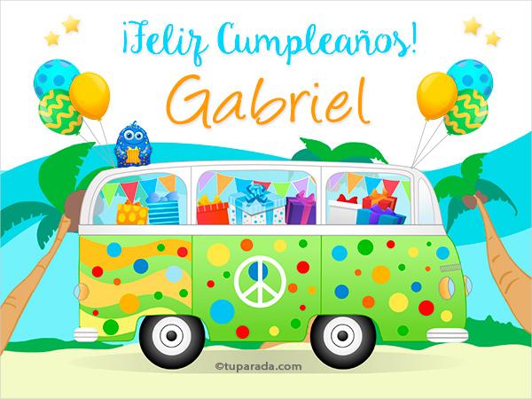 Tarjeta - Nombre Gabriel
