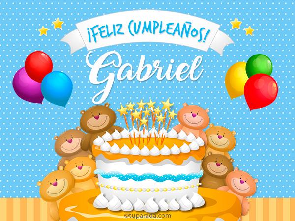 Tarjeta - Cumpleaños de Gabriel