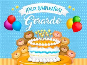 Cumpleaños de Gerardo