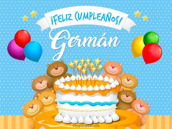 Tarjeta - Cumpleaños de Germán