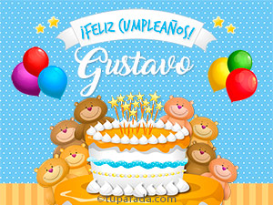 Tarjetas de  Gustavo