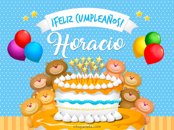 Tarjeta - Cumpleaños de Horacio