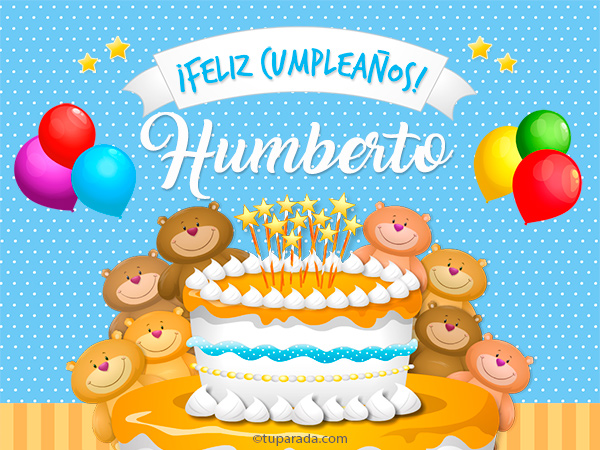 Tarjeta - Cumpleaños de Humberto