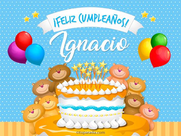 Tarjeta - Cumpleaños de Ignacio