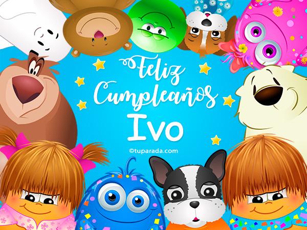 Tarjeta - Feliz cumpleaños Ivo