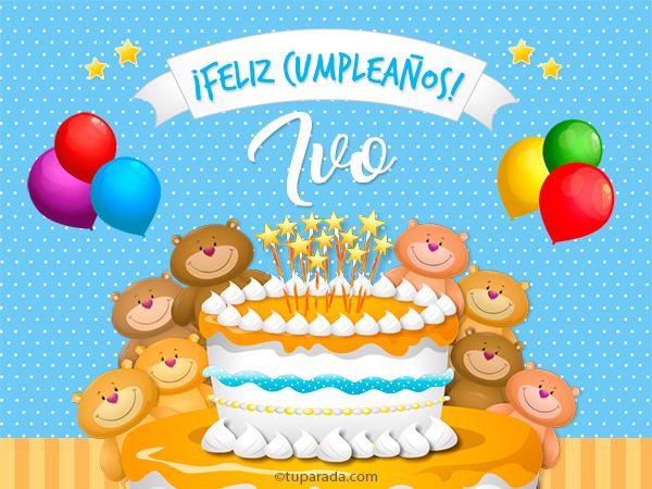 Tarjeta - Cumpleaños de Ivo