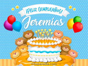 Tarjetas de  Jeremías