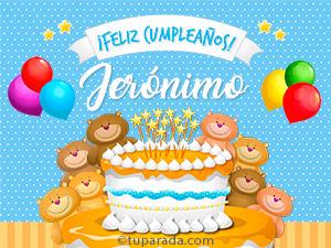 Tarjetas de Jerónimo