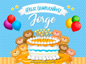 Tarjetas de  Jorge